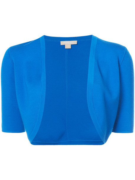 cardigan cardigan cropped women blue wool sweater