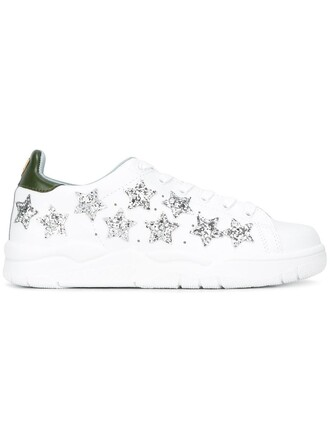 sneakers leather white cotton stars shoes