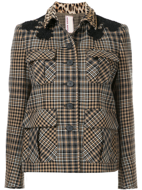 Antonio Marras jacket women cotton wool brown