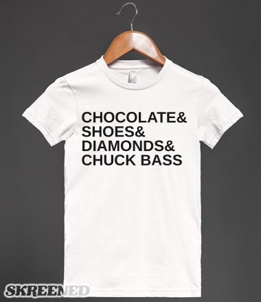 Chocolate and shoes and diamonds and chuck bass