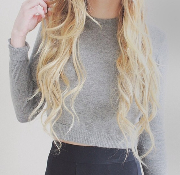 sweater cropped sweater grey