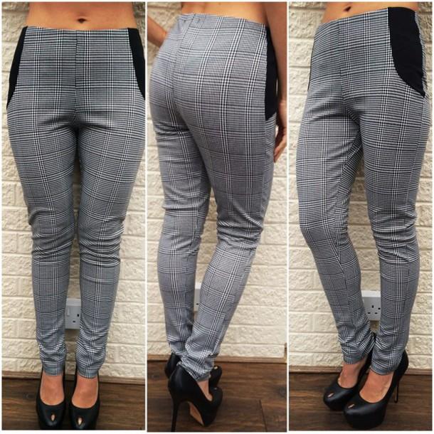 11c72459308 jumpsuit ikandi boutique pants check pants checkered checkered pants  monochrome monochrome pants leggings casual casual pants