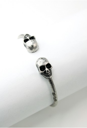 Chicwish Twin Skull Bangle Bracelet  - Retro, Indie and Unique Fashion