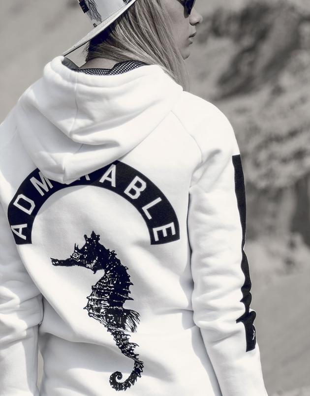 Seas white hoodie · admirable