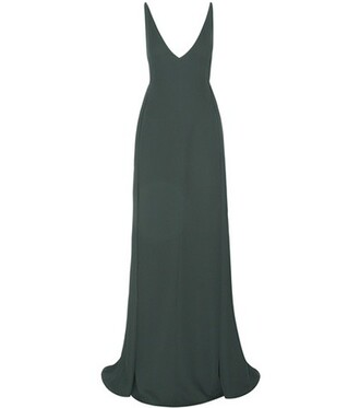 gown silk green dress