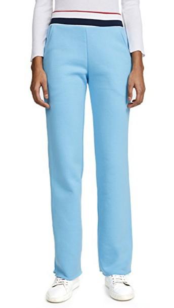 Twenty Tees sweatpants cropped varsity navy blue red pants