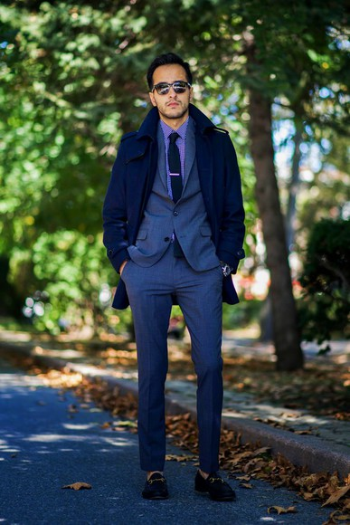 navy menswear blogger jacket the metro man tailoring tie