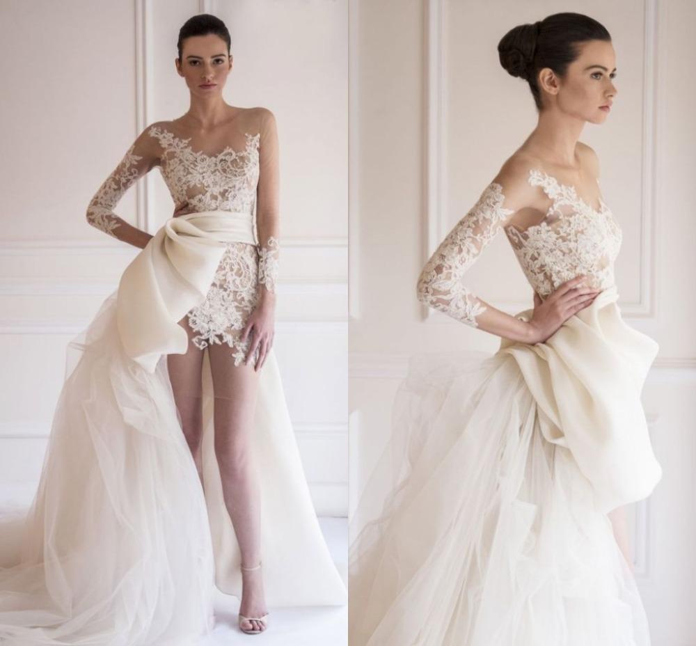 Aliexpress.com : Buy High End Royal High Low Organza Wedding Dress ...