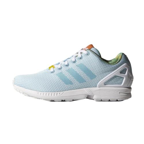 Zx flux weave bright cyan / white / black selected sneakers & streetwear