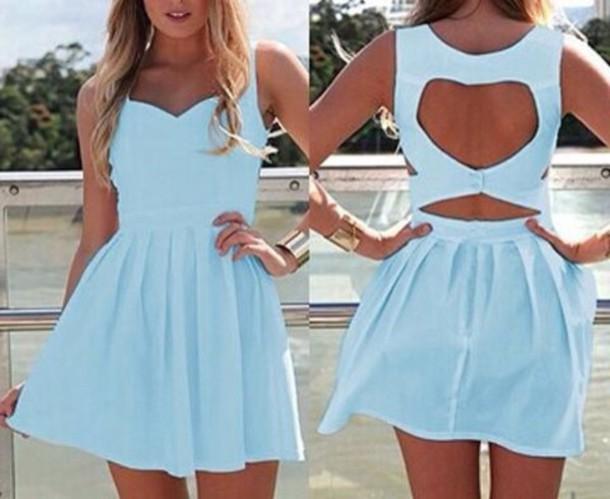 dress cute fashion sweetheart love blue
