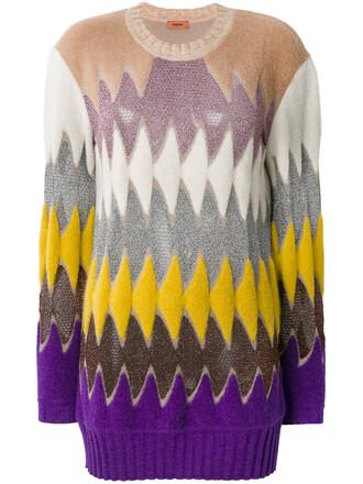 jumper women nude chevron sweater