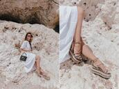 lolita mas,blogger,shoes,dress,bag,sunglasses,flatforms,white dress,summer outfits