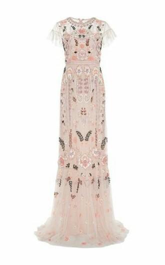 dress needle and thread needle and thread dress embroidered dress embroidered sheer pink dress wedding dress