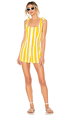 BEACH RIOT x REVOLVE Zoey Romper in Yellow Stripe from Revolve.com