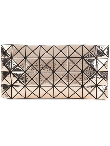 BAO BAO ISSEY MIYAKE women clutch grey metallic bag