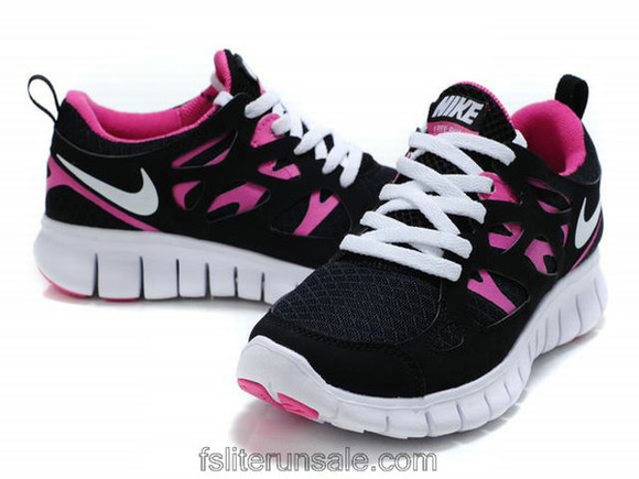 shoes pink shoes pink nike free run 2 black