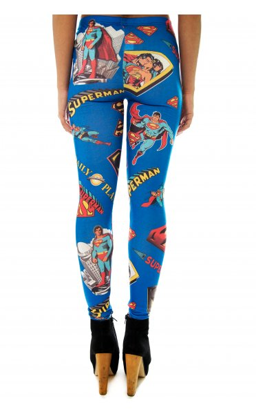 Comic Strip Superman Leggings - from The Fashion Bible UK
