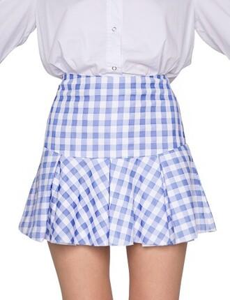 skirt ozzie gingham pleated skirt