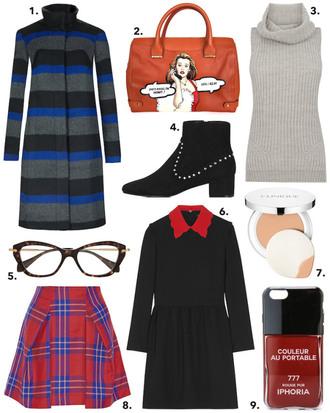 cocos tea party blogger coat bag sweater shoes dress skirt