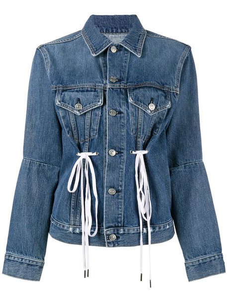 Proenza Schouler jacket denim women drawstring cotton blue