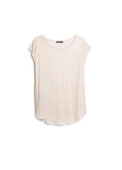 metallic linen-blend t-shirt