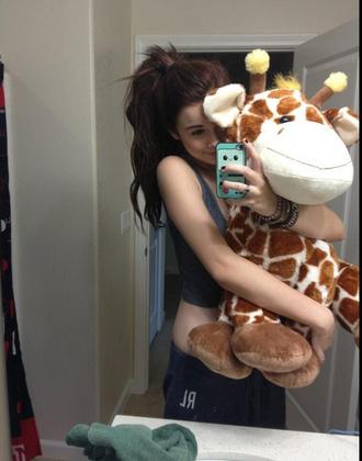 bag acacia brinley giraffe stuffed animal soft toy pants belt