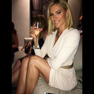 kristen taekman white dress long sleeve dress plunge dress wrap front dress ecru dress