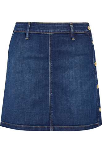 skirt mini skirt denim mini dark