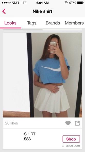 skirt nike t-shirt