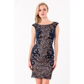 dress,embellished,party dress,sheath,terani couture,formal dress