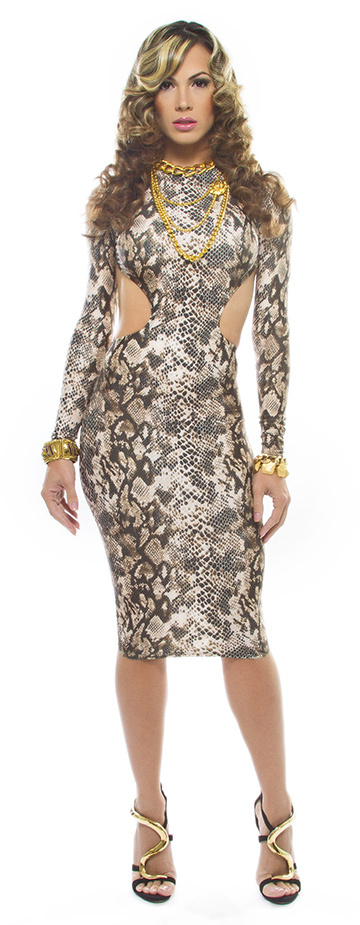 Goddess Sleeve - Snake Print - Deliano Miami