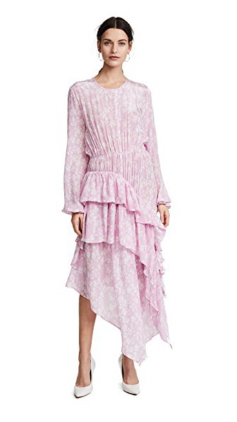 PREEN BY THORNTON BREGAZZI dress ruffle dress ruffle pink