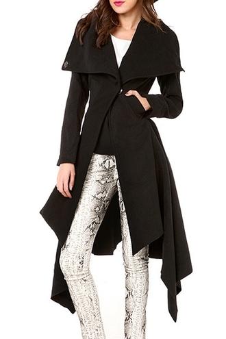 coat black friday cyber monday leggings long coat zaful snake print