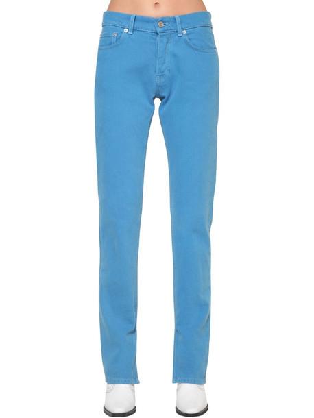 GANNI Sheldon Slim Fit Cotton Denim Jeans in blue