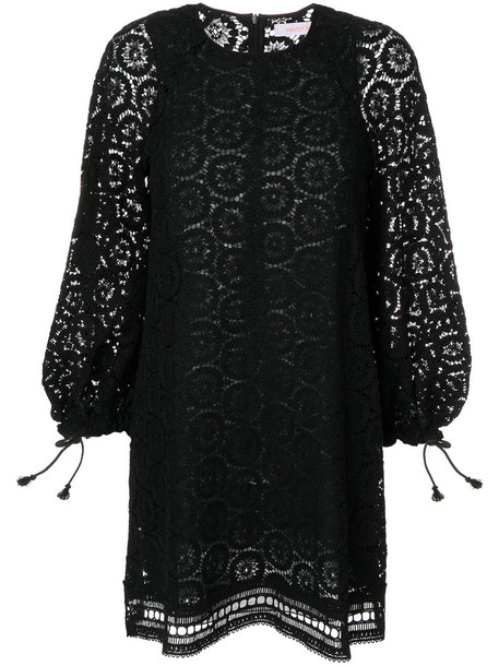 See by Chloe embroidered women cotton black romper