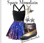 dress,galaxy dress,skirt