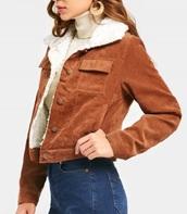 jacket,girly,brown,fur,fur jacket,button up