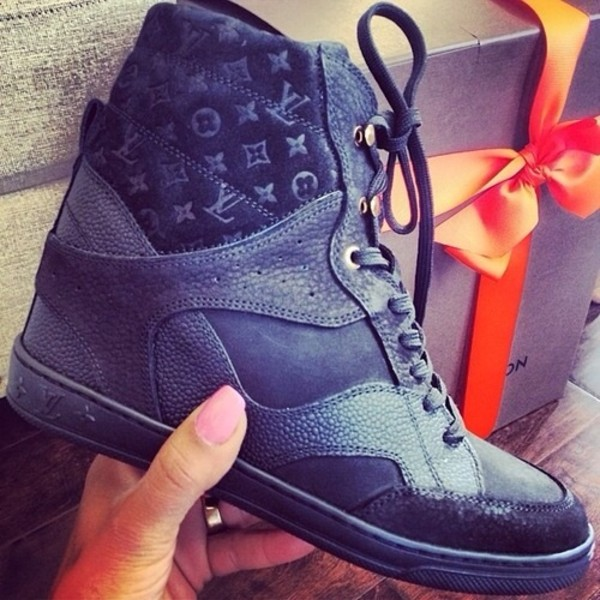 shoes high top sneakers louis vuitton