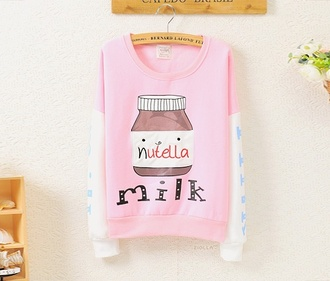 sweater pink dress nutella nutella impersonating lovely pepa