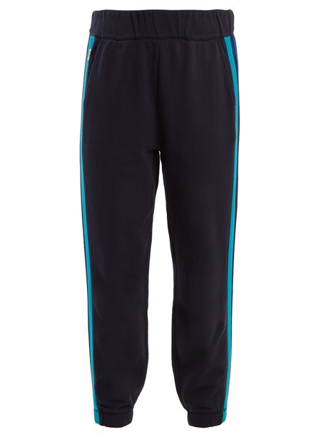 lndr pants track pants cotton navy