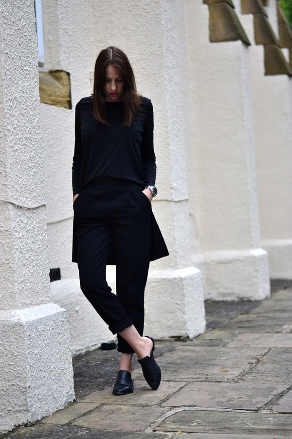 shot from the street blogger top pants shoes