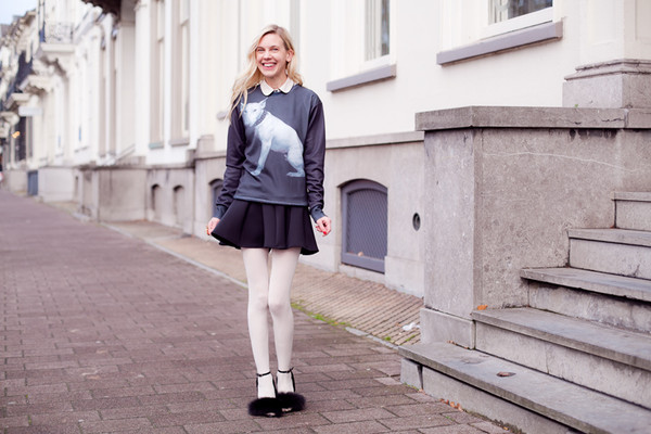 cocorosa sweater skirt shoes blouse