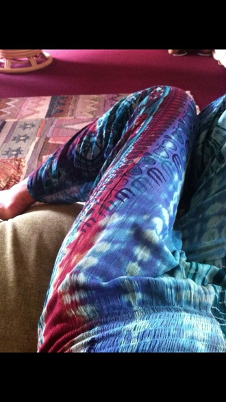 hippie boho harlem pants tie dye