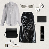 oracle fox,blogger,shirt,sunglasses,jewels,skirt,bag