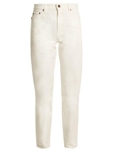 Saint Laurent jeans boyfriend jeans denim high boyfriend white