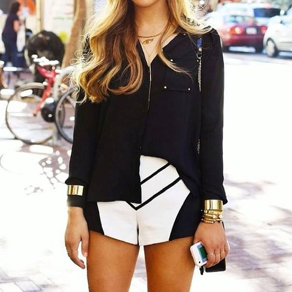 shorts icifashion ici fashion black and white shorts summer shorts finders keepers