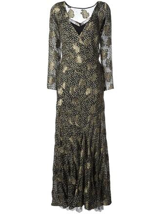 dress metallic women lace silk grey