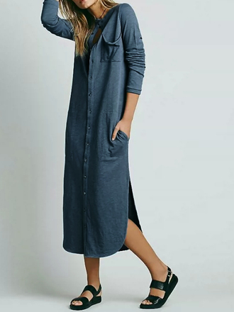 dress choies shirt dress side split dress longline shirt dress
