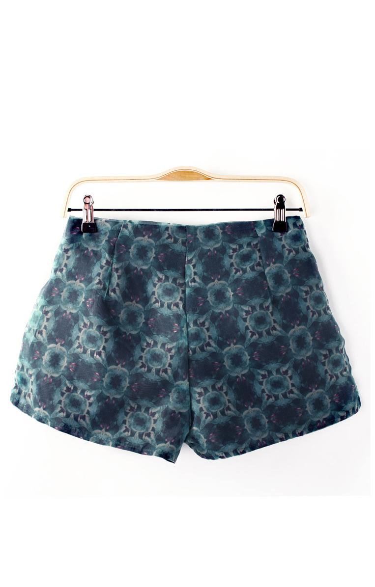 Fashion Printed Organza Shorts