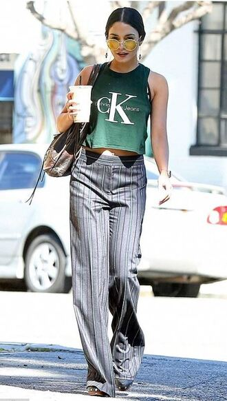top pants spring outfits vanessa hudgens earrings jewels